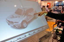 10 points Interactive transparent touch foil film wall interactive,40 inches touch foil . for touch kiosk, table etc