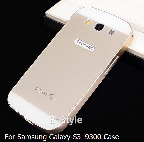 S3 Ultra thin 2 in 1 Aluminum Metal Frame + Acrylic Glass Back Cover Case for Samsung Galaxy S3 SIII i9300(China (Mainland))