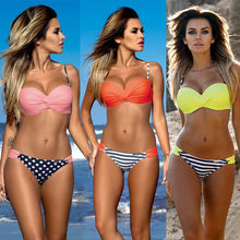 2016 Newest Sexy Women Bandage Bikini Set Push-up Padded Bra Swimsuit Bathing Suit Swimwear
