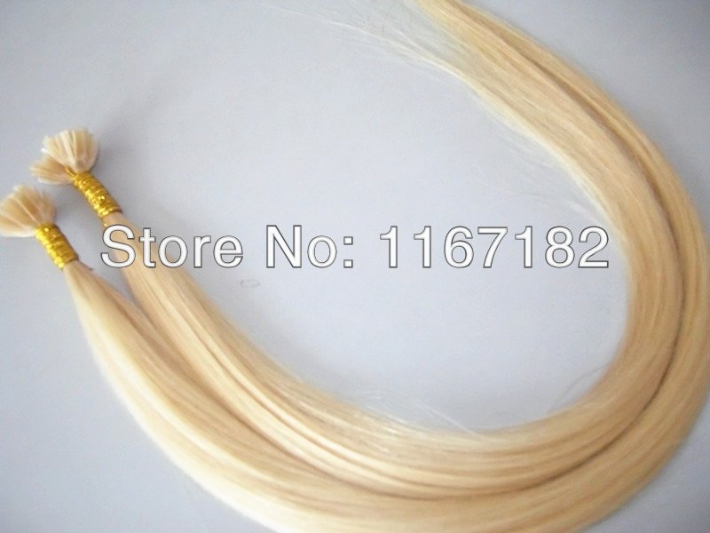 brazilian 6A human  hair extensions 613# and 1#  hair pre bonded 22.24 inches straight style<br><br>Aliexpress