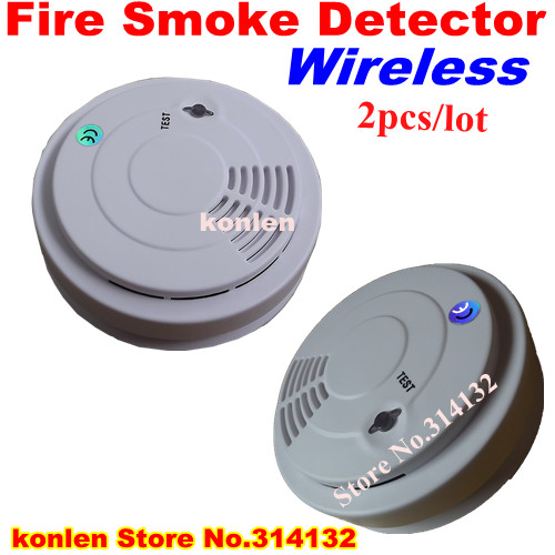 buy new wireless smoke detector 433 for home security alarm system free. Black Bedroom Furniture Sets. Home Design Ideas