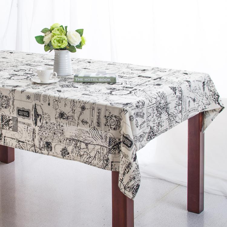 Linen Table Cloth European style Navigation Map Tablecloth Table Cover manteles para mesa High Quality Free Shipping(China (Mainland))