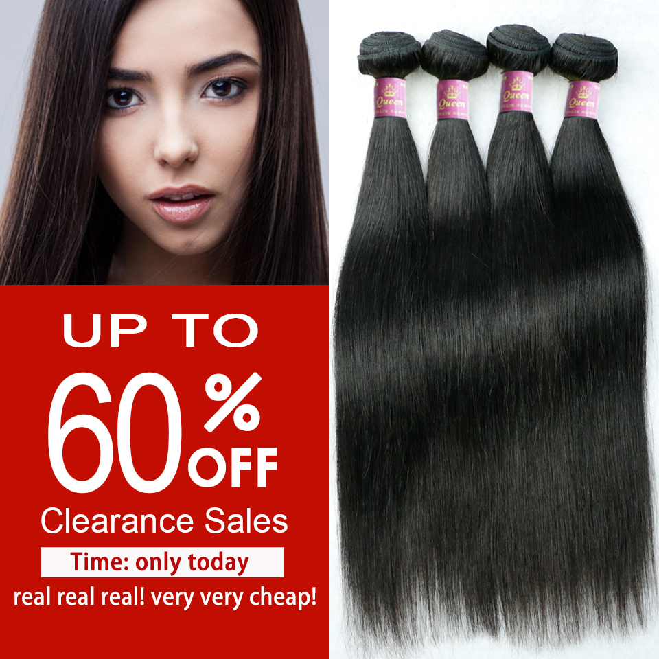 Clearance Sales Queen Hair Products 4 Bundles Brazilian Virgin Hair Straight Unprocessed Brazilian Straight Hair Remy Hair Weave(China (Mainland))