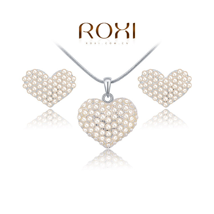 ROXI Brands fashion women Pearl weddings sets, Austrian crystal,Nickeless jewelry set,Engagement weddingsgifts Cyber Monday - Bella Digital Accessories store