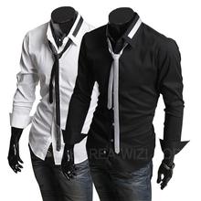 Camisas shirt men Blouse Shirts Long Sleeves blanket cotton blank Work brief designer blousa Men Casual Social Shirt XXL HY P45 - Eternal Fashion HK Trade Limited store