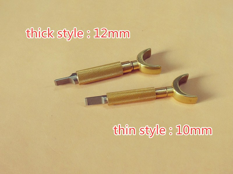 Buy DIY Johnleather Craft Tool Upgrades Swivel Knife Brass Color With Steel Cutter Head cheap