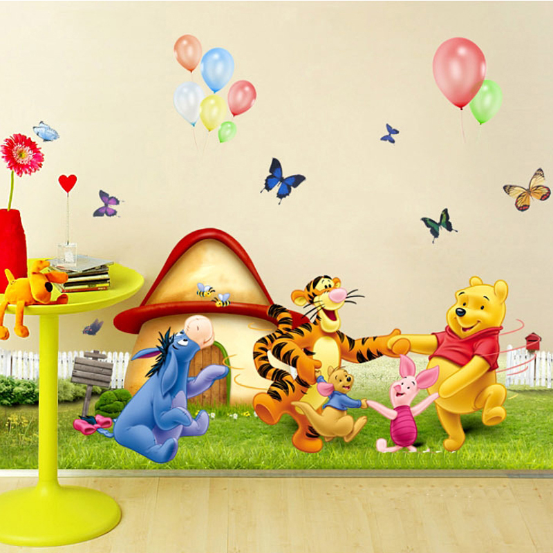 1pcs Cartoon Cute Wall Decals Stickers Kids Bedroom Sofa Background Children Living Room Poster House Decoration Accessories(China (Mainland))
