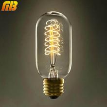 Vintage Edison Bulbs T45 220V E27 Incandescent Bulbs 25W 40W 60W Filament Retro Edison Light For Pendant Lamp(China (Mainland))