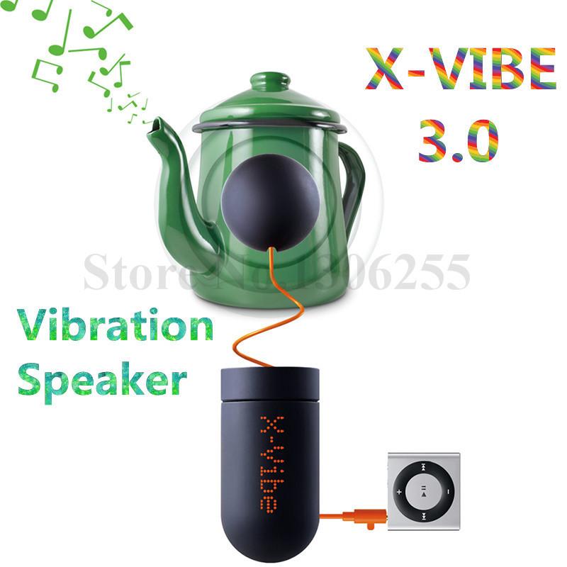 Free Shipping 1pcs New Original Factory Boombox Vibration X Vibe 3.0 Speaker Mini Fashion Portable Vibration Speakers(China (Mainland))