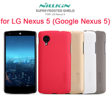 NILLKIN Super Frosted Shield Case for LG Nexus 5 with screen protector and retailed package(China (Mainland))
