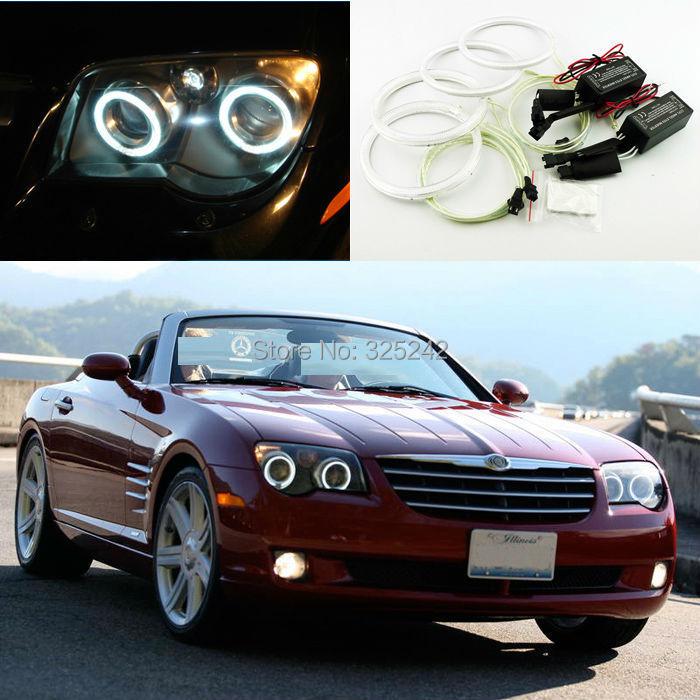 For Chrysler Crossfire 2004-2008 Excellent CCFL Angel Eyes kit Ultrabright illumination angel eyes kit Halo Ring(China (Mainland))