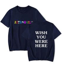 2018 新ファッションヒップホップ Tシャツ男性女性トラビス Scotts ASTROWORLD 原宿 Tシャツだったらいいのにここレタープリント tシャツトップス(China)