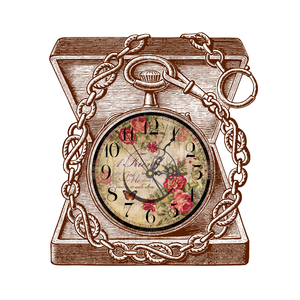 Wall Clock 3D Butterfly Wall Decor Vintage Butterflies Flowers Wooden Box Watch Creative Wall Clocks Stickers for Kids Rooms(China (Mainland))