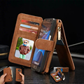 CaseMe S8 Plus Luxury Retro Multi Functional 2 in 1 Leather Wallet Case for Samsung Galaxy