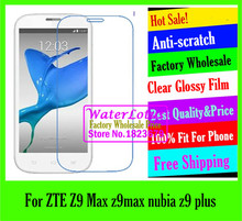 Buy Clear Glossy mobile protective film phone screen protector de pantalla projector LCD film ZTE Z9 Max z9max nubia z9 plus for $1.44 in AliExpress store