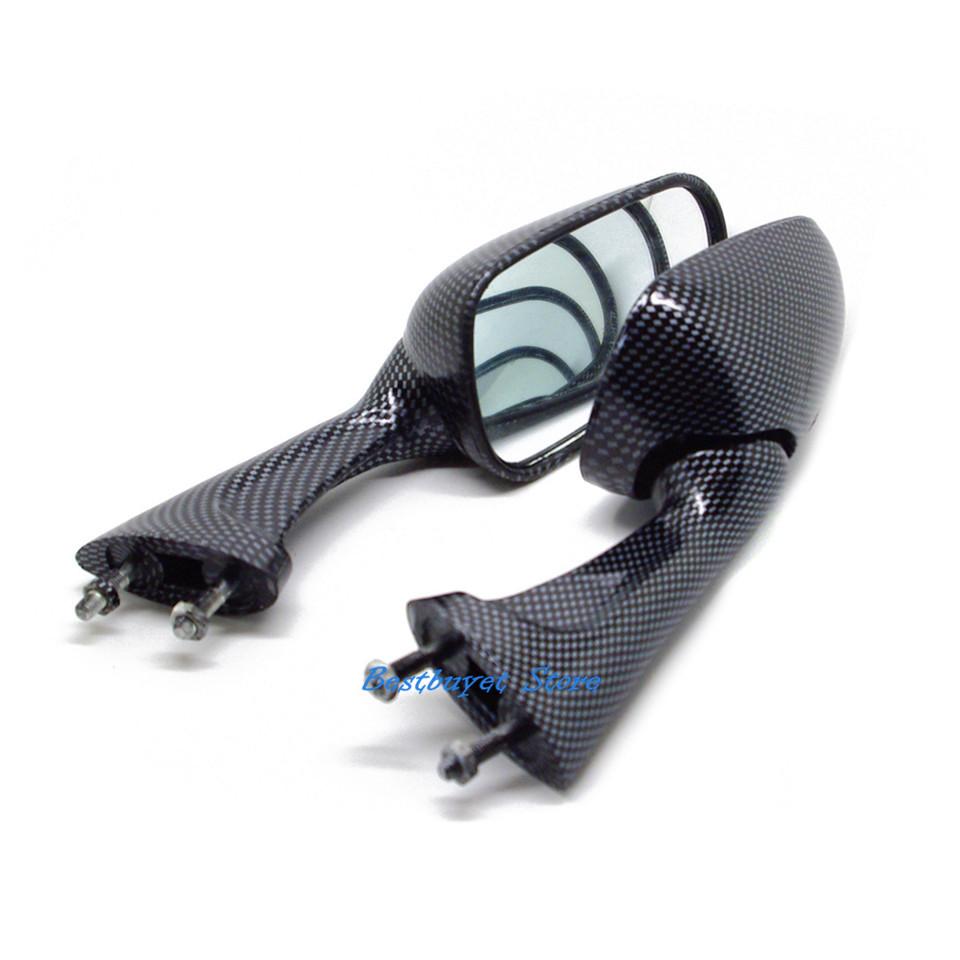 Углерода зеркала заднего вида для Honda VFR400 NC30 RVF400 CBR250 MC19 22 CBR400 NC23