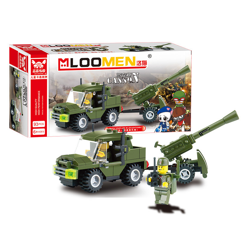 J321 Kids' Favorites!! DIY 93pcs Field Armies Assemble Toy Early Educational Brinquedos Cannon Small Particles Building Blocks(China (Mainland))