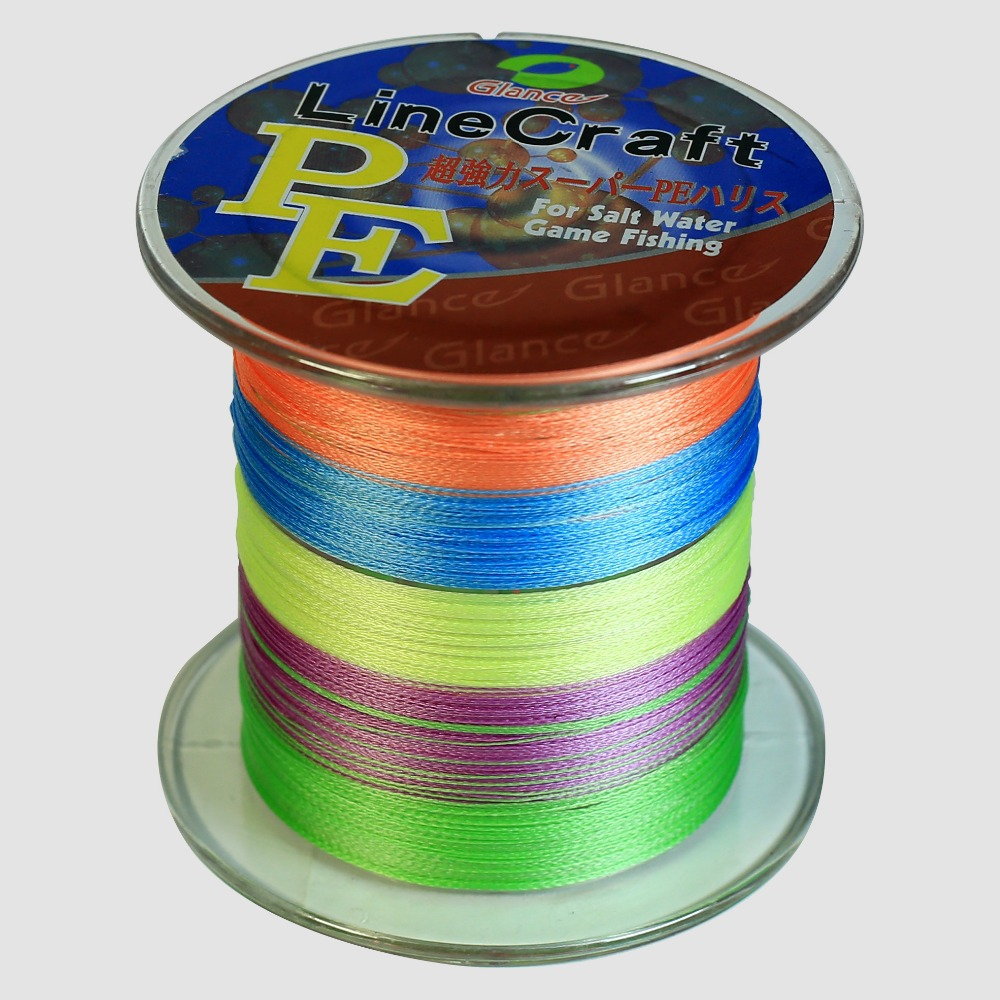 1000M Brand Glance PE Japan Multifilament 100% PE Braided Fishing Line 10LB to 100LB Free Shipping(China (Mainland))