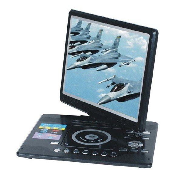 Large Screen Portable : Large screen inch tft lcd portable dvd player with tv