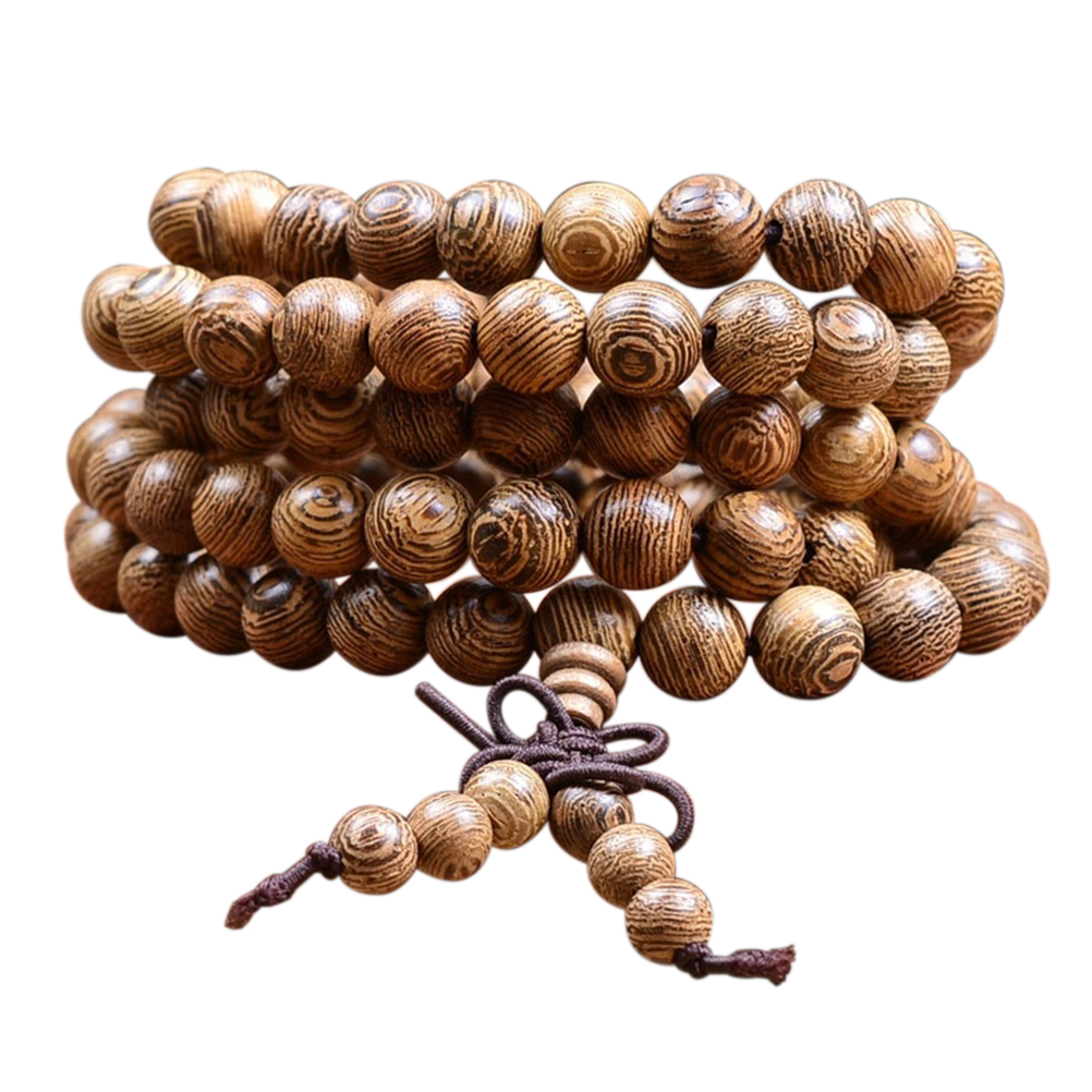 Tibetan Lama Buddhist Prayer 108 Wood Buddha Bead Bracelets Bangles Women Chinese Style Bracelets Men Jewelry