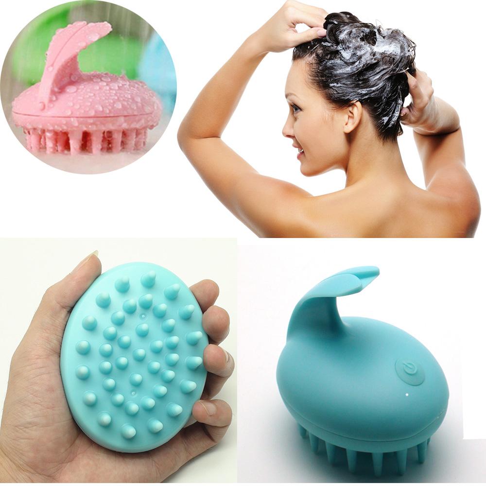 Electric Cute Rabbit Head Massager Magic Comb Shampoo Bath Massage Brush Scalp Massager Vibrating Brush Head Hair Care C627(China (Mainland))