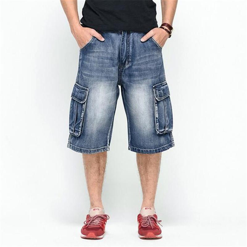 2017 Wholesale Plus Size 30 46 Mens Denim Cargo Shorts Multi ...