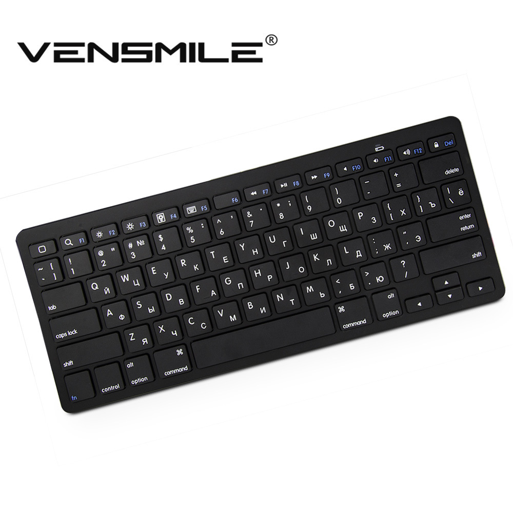 2015 Hotest Bluetooth keyboard with Russian English Portugal Ultra Slim Wireless Keyboard For PC Ipad Laptop