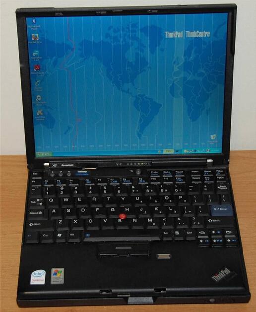 "Original Lenovo X61 Laptop 12.1"" Core2 Duo 2GHz 2GB 80GB Good Working Condition(China (Mainland))"