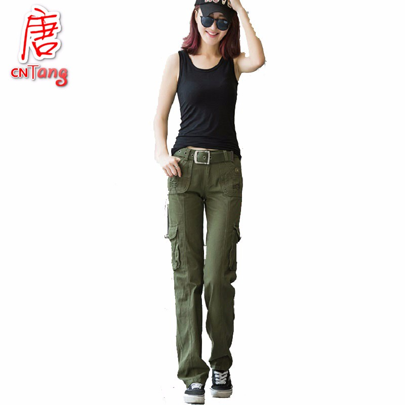 Cool New Ladies Women Camouflage Cargo Jeans Army Military Straight Pants