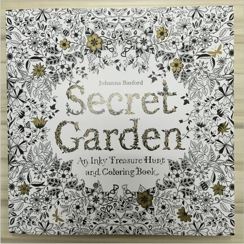 Secret Garden 96 Pages English Edition Coloring Book For