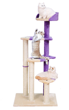 4 floors luxury wooden cat tree large cats scratchers pet climbing toy house ladder sisal rope 123cm(China (Mainland))