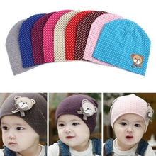 1 pcs cotton baby hat baby cap winter children Beanies boys girls Infant toddlers kids hat(China (Mainland))