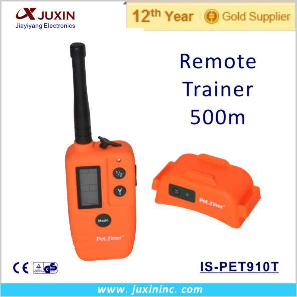 Free shipping pet dog training device remote control electronic collar shock vibration 500m(China (Mainland))