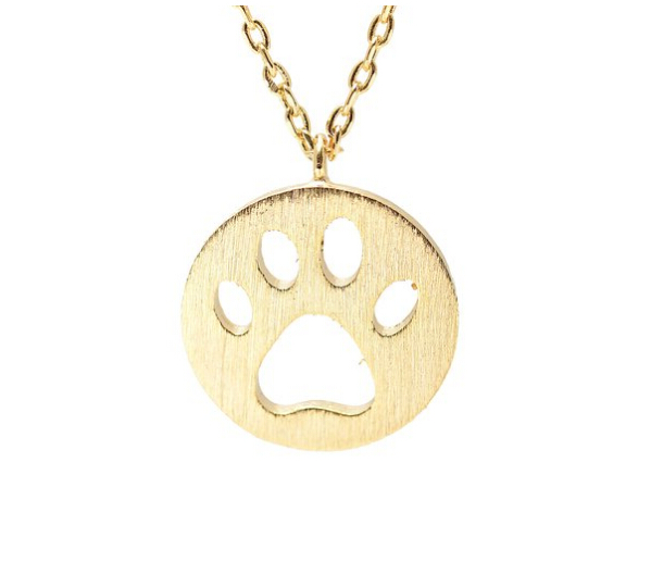 30pcs30pcs Cut Out Dog Paw Necklace Dainty Pendant Puppy Paw Print Necklaces &amp; Pendants Christmas Gift Handcrafted Brushed Metal<br><br>Aliexpress