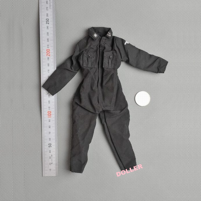1:6 Scale Action Figure Model Toy 12'' 1/6 Military Figure Army Combat DML ARMORED FORCE Soldiers ss Black Coverall Clothes(China (Mainland))