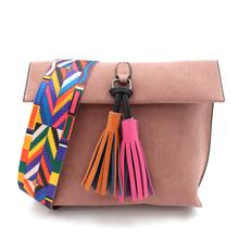 Buy Women Solid Color Tassel Crossbody Bag Female Designer Shoulder Bags Ladies Vintage Messenger Bag Purse Bolsas Feminina Sac 963 for $13.99 in AliExpress store