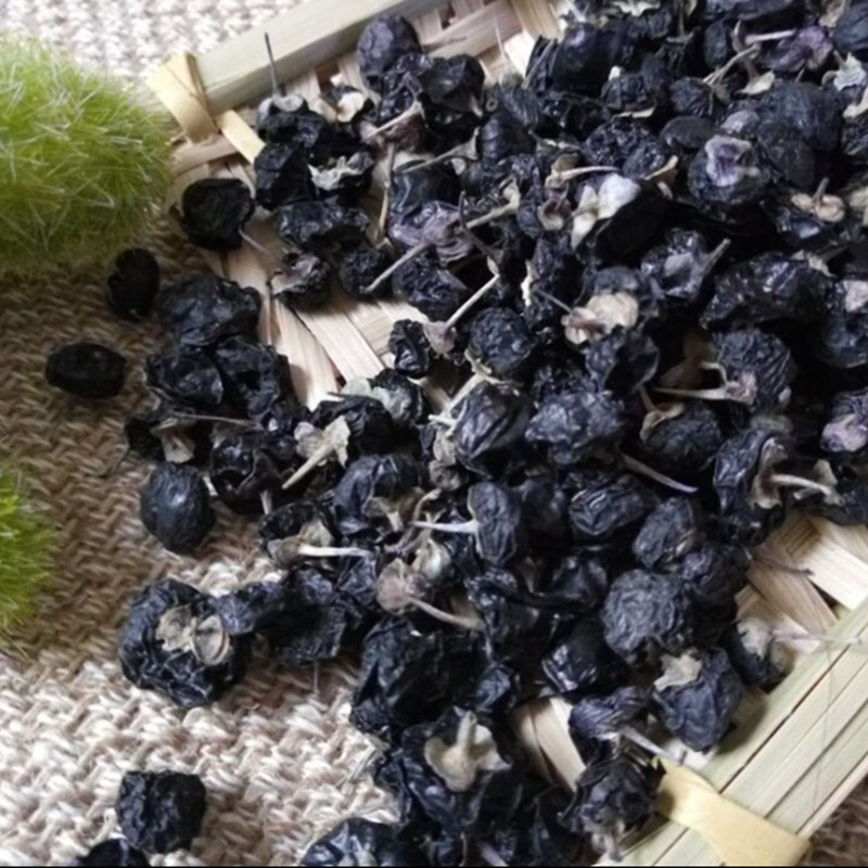wild black Chinese wolfberry super large fruit Black medlar soothe the nerves lungs and cough Lycium barbarum 100g free shipping(China (Mainland))