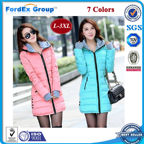 Women's cotton-padded jacket 2015 winter medium-long cotton plus size female slim ladies jackets coats - Fordex Industrial Group Limited store
