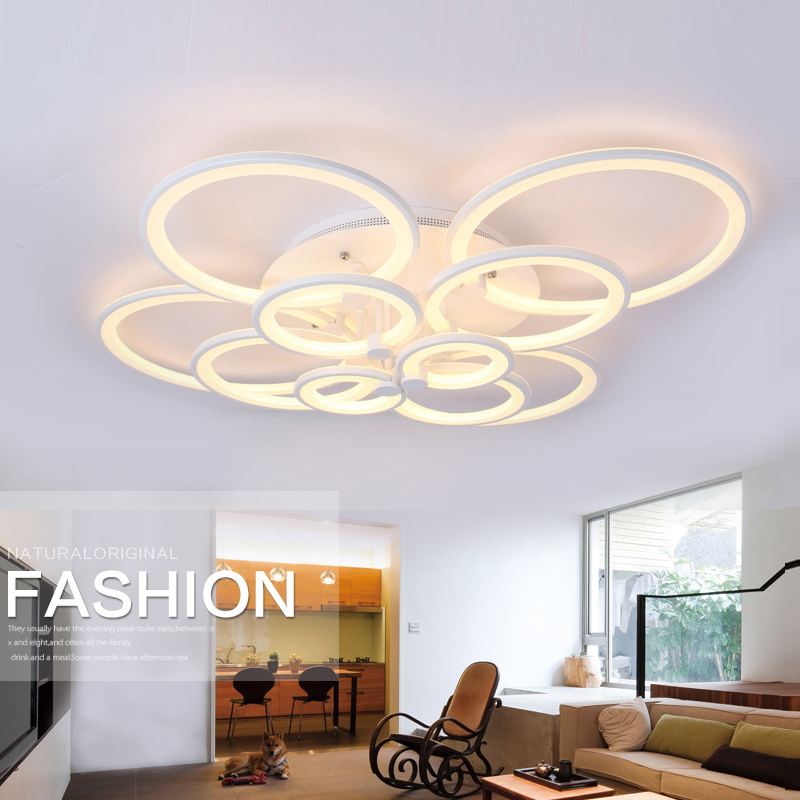 Remote Control Modern Led Ceiling Lights Acrylic Lamp Shade For Dining Room L