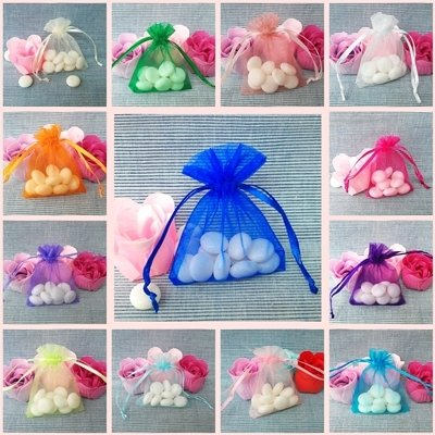 Free shipping!!!1000pcs 5*7cmJewelry Organza Gift bags wedding candy bags you can choose the color(China (Mainland))