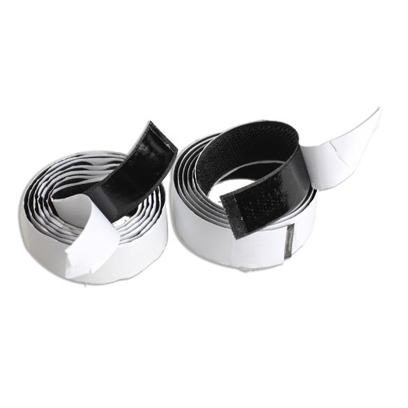 2 Rolls1m Strong Self Adhesive Magic Hook Loop Tape Fastener Black ARE4