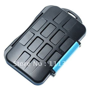 free shipping+ tracking number Waterproof Extremely tough Memory Card Case MC-2 for 4 CF cards 8 SD cards
