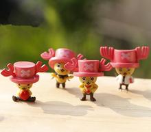 One Piece Japanese Anime Tony Tony Chopper Action Figure Toys Doll Model 4cm Commemorative Edition A variety of styles. PY102(China (Mainland))