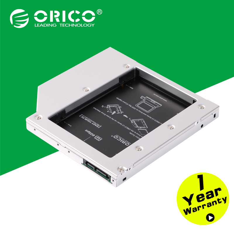 ORICO L127SS CD-ROM Space SATA to SATA 2 Hard Disk Drive 2.5 Internal HDD Caddy Enclosure for Laptops-Silver(China (Mainland))