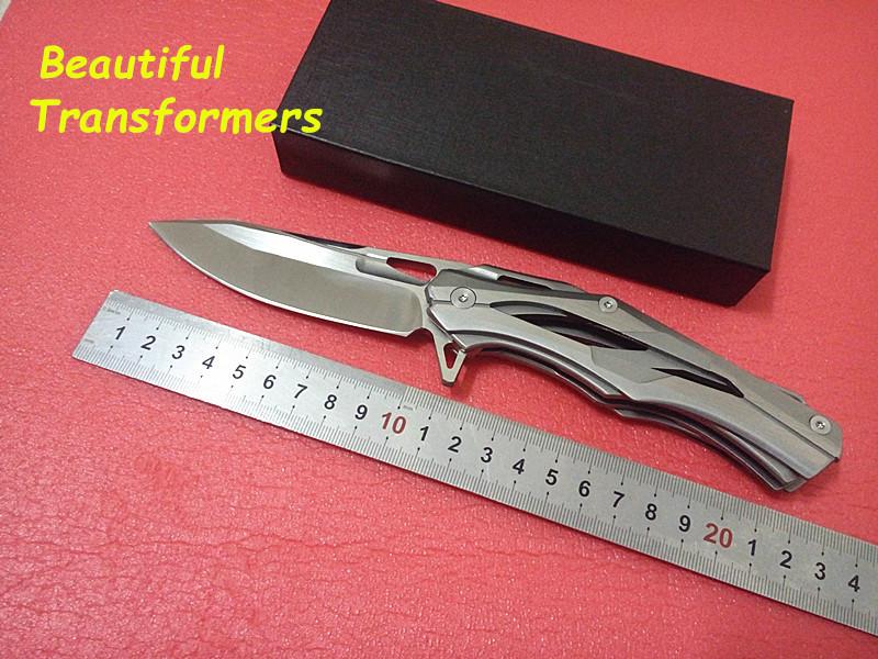2015 NEW Shirogorov Outdoor Tactical Folding Knife Satin Finished 5CR15MOV Steel Blade Utility Survival Pocket Knife FACA EDC(China (Mainland))