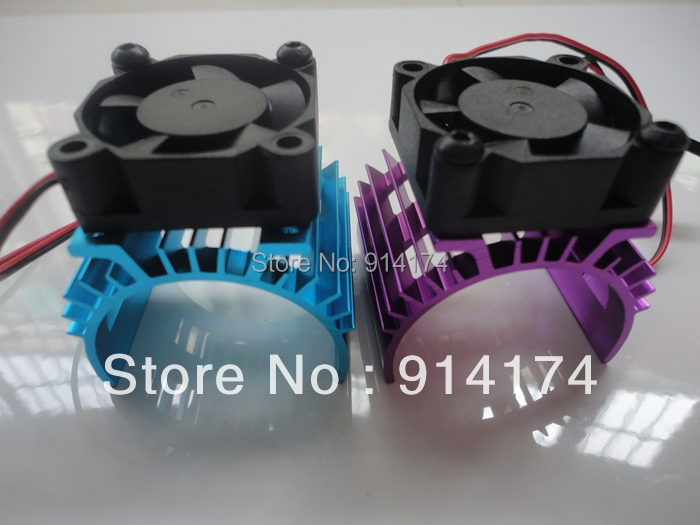 free shipping R/C Car accessories 1/10 550 motor 540 motor heatsink with fan for 1:10 RC car(China (Mainland))