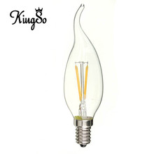 Kingso E12 2W Edison Antique Vintage Style Energy Saving LED Filament Candle Light Incandescent Lamp Bulb Non Dimmable 110V(China (Mainland))