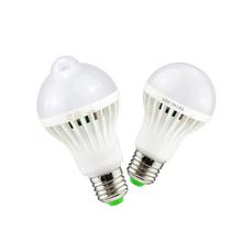 Buy 1 X Lampadas LED PIR Infrared Motion/Sound+Light Sensor Lamp E27 220V 230V 3w 5w 7w 9w 12w Smart Sensor LED Bulb light for $1.45 in AliExpress store