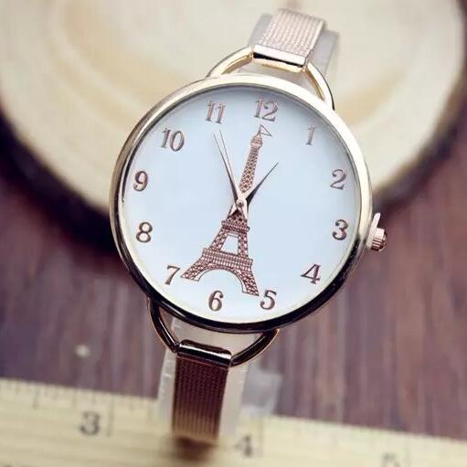 2016 New Famous Brand Gold Tower Thin Strap Casual Quartz Watch Women Metal Mesh Stainless Steel Watches Relogio Feminino Clock<br><br>Aliexpress