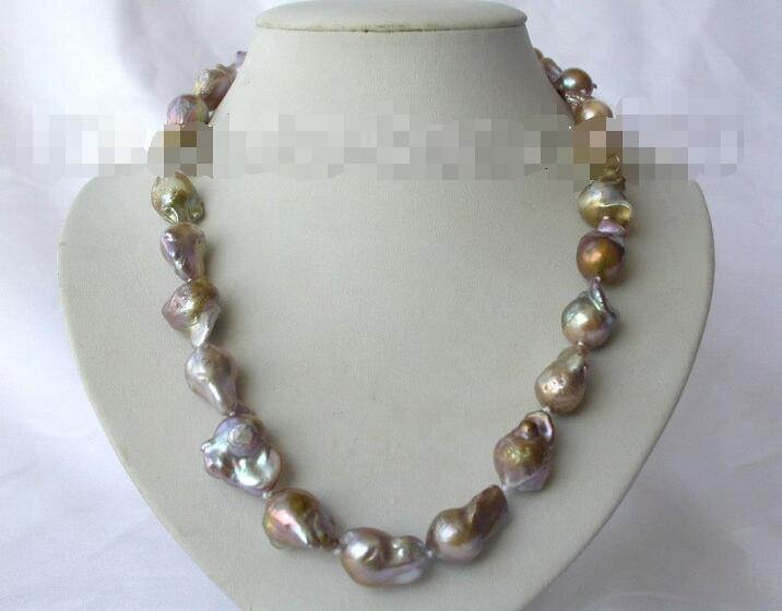 Wholesale price 16new ^^^^stunning 18 big 20mm Brown baroque reborn keshi freshwater pearl necklace s319<br><br>Aliexpress
